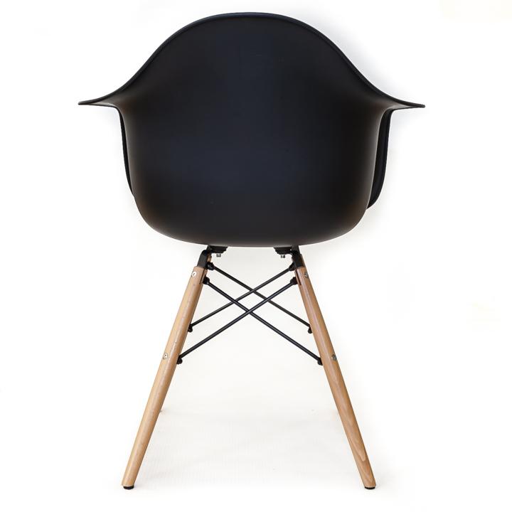 Eames replica eetkamer kuipstoel - zwart | Bestel bij design-stoelen.nl