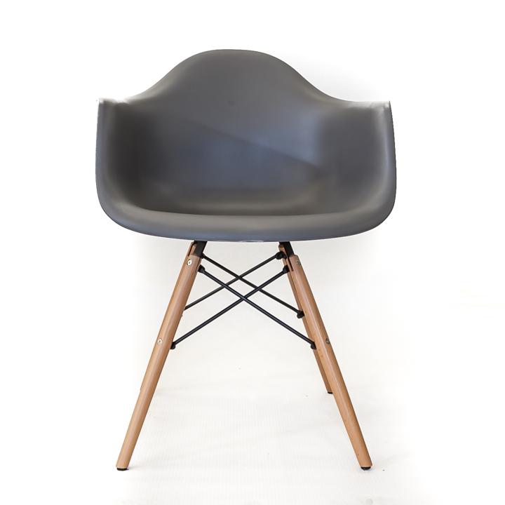 Eames replica eetkamer kuipstoel - donkergrijs   Bestel bij design ...