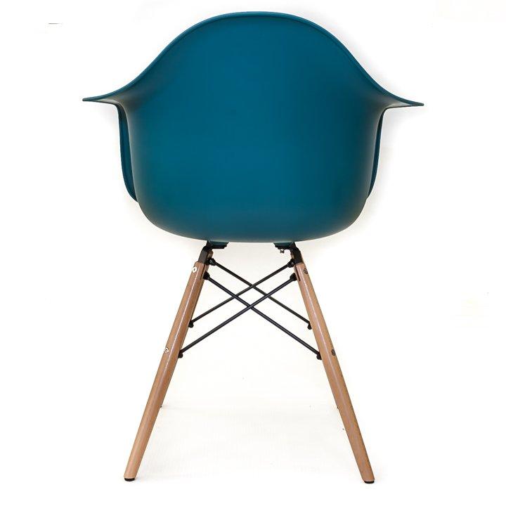Eames replica eetkamer kuipstoel petrol blauw bestel for Eames kuipstoel