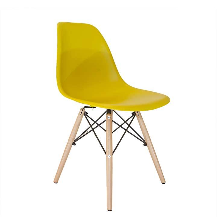 Eames Replica Eetkamerstoel.Design Eetkamerstoel Mosterd Ds