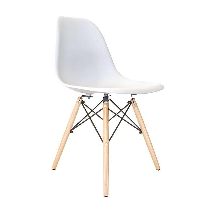Eetkamerstoelen Designstoel Dsw Plastic Wit.Design Eetkamerstoel Wit Ds