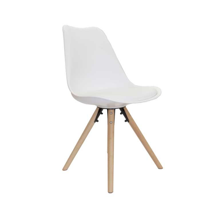 Witte Kunststof Design Stoelen.Eames Replica Eetkamer Kuipstoel Bruin Bestel Bij Design